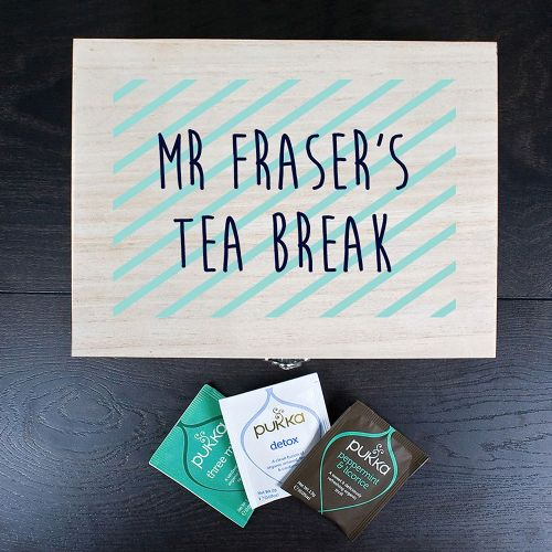 Teacher's Tea Break Box Stripes Design